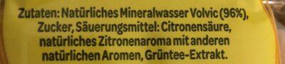 Volvic Grüner Tee Zitrone - Ingrédients