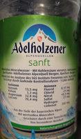 Adelholzener sanft - Ingredients
