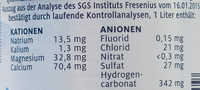 Adelholzener naturell - Nutrition facts - de