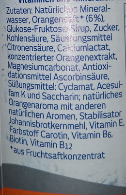 Orange Sport isotonisch - Ingredients - de