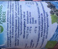 Adelholzener Johannisbeere bio - Ingredients - fr