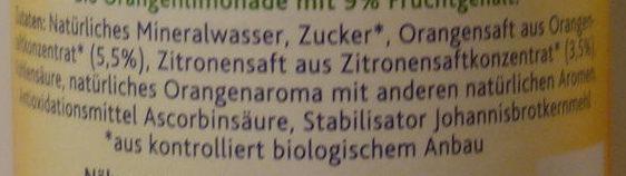 Bio Orange - Ingredients