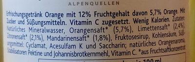 Bleib in Form Sunny Orange - Ingredienti - de