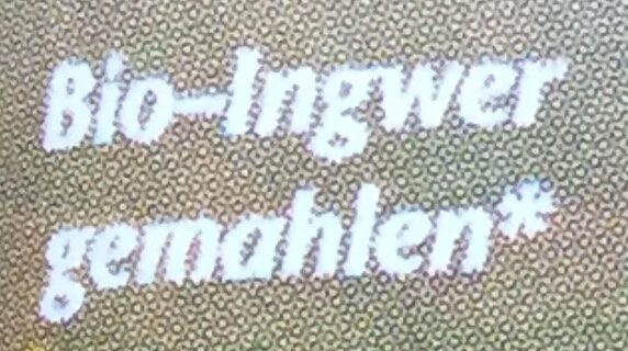 Ingwer - Ingredients