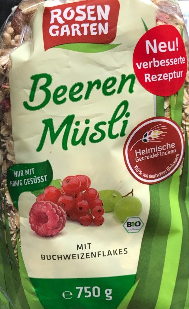 Rosengarten Beeren Müsli - Produit