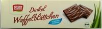 Dinkel Waffelblättchen in Vollmilch-Schokolade - Produkt