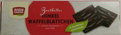 Dinkel Waffelblättchen in Zartbitter-Schokolade - Produit - de