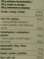 Dinkel Waffelblättchen in Zartbitter-Schokolade - Informations nutritionnelles - de