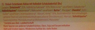 Dinkel Osterhasen-Kekse - Inhaltsstoffe