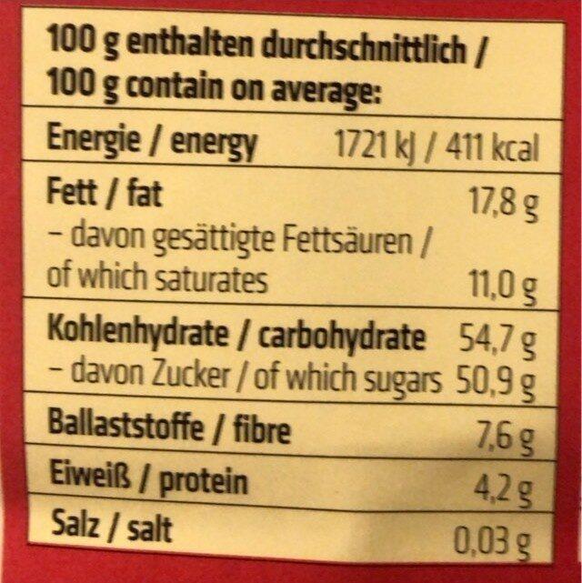 Ingwerstücke - Informations nutritionnelles - de