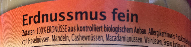 Pâte de cacahuètes Bio - Ingredients - fr