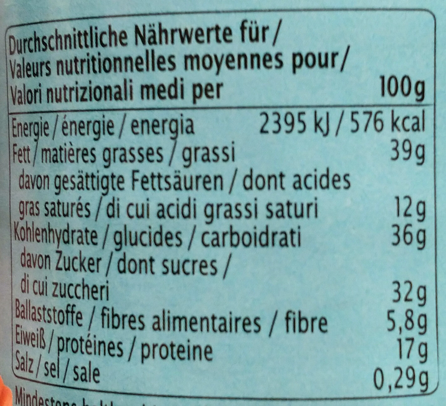 Peanut butter Schoko-Caramel - Nutrition facts - de