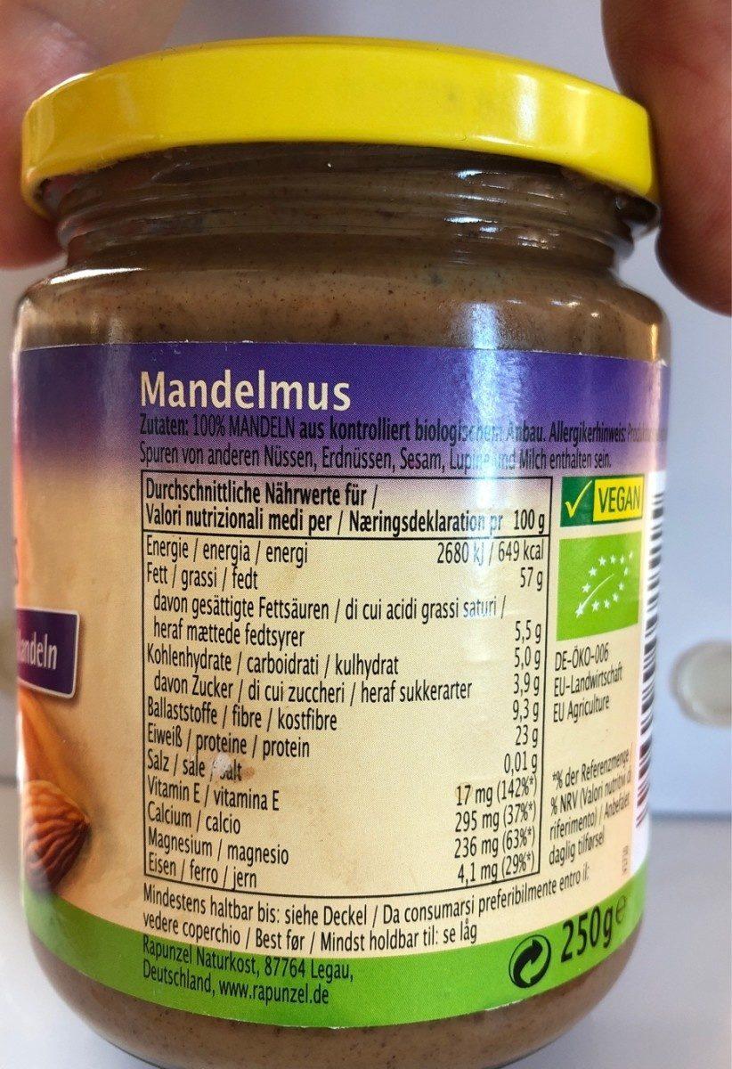 Mandelmus - Ingrédients - fr