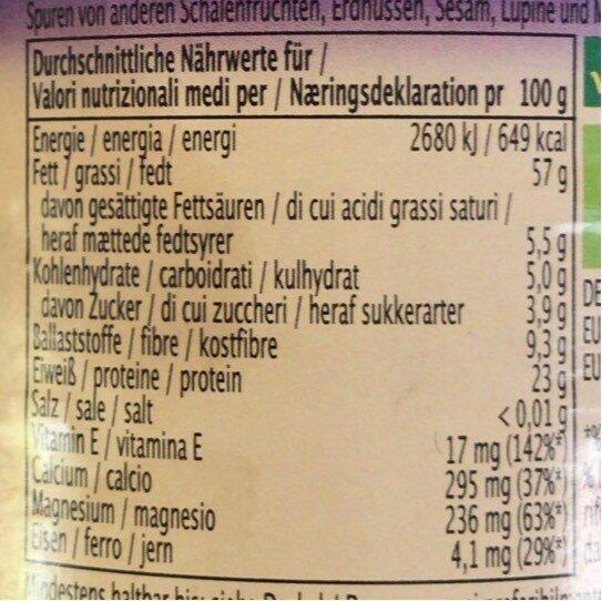 Mandelmus - Informations nutritionnelles - de