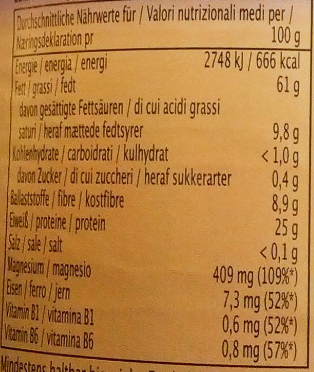 weißes Tahin - Nutrition facts - de