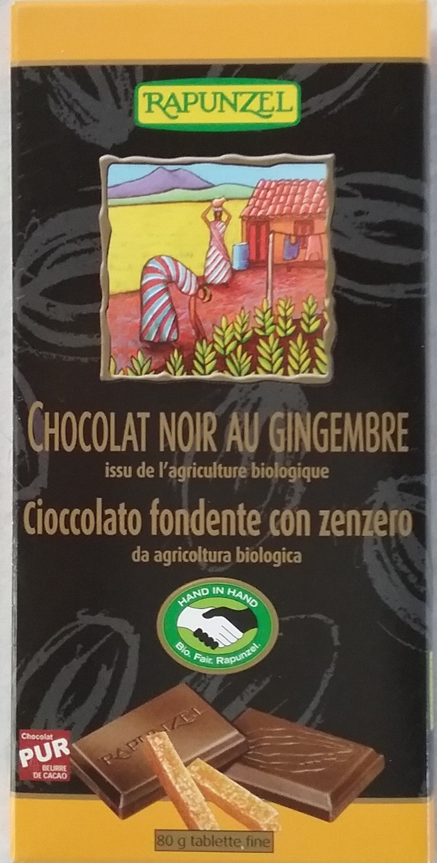 Chocolat noir au gingembre - Produit