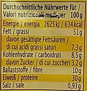 Erdnüsse geröstet und gesalzen - Valori nutrizionali - de