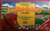 Bouillon de bœuf en cube issu de l'agriculture biologique - Product