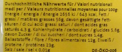 Amandes effilées - Nutrition facts