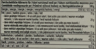 Prima Kokos - Nährwertangaben