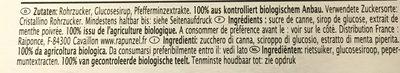 Peppermint - Ingrédients