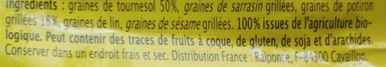 Mélange de graines - Ingredients
