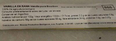Vainilla de Bourbon en Rama - Nutrition facts