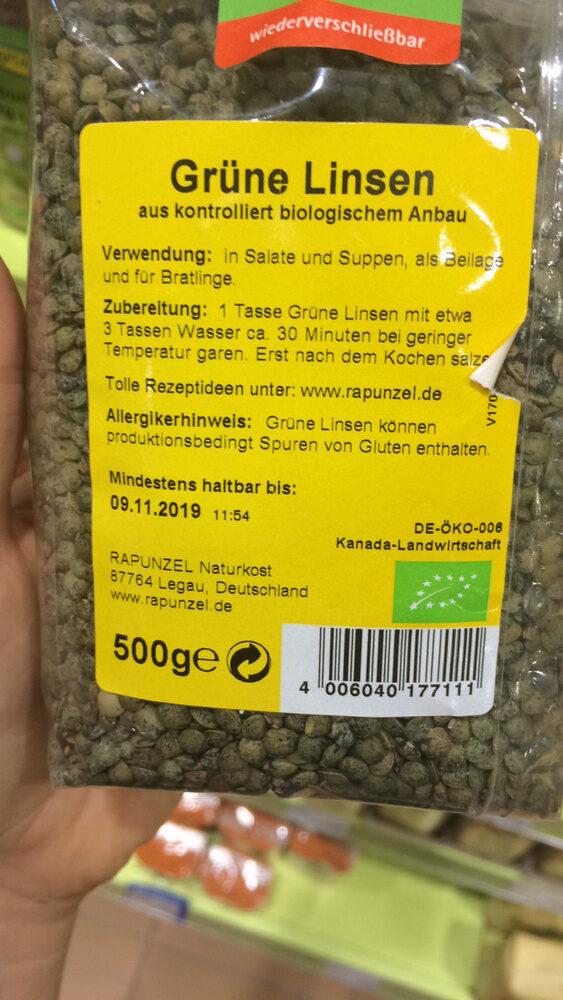 Grüne Linsen - Product - de