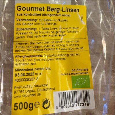 Gourmet Lentils - Nutrition facts - fr