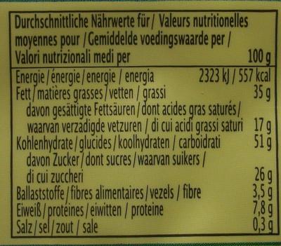 Gaufrettes complètes citron - Informations nutritionnelles - fr