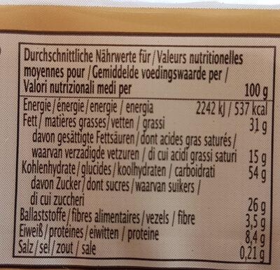Gaufrettes Au Chocolat - Informations nutritionnelles