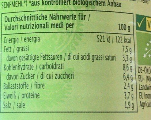 Saté Erdnusssauce - Nährwertangaben - de