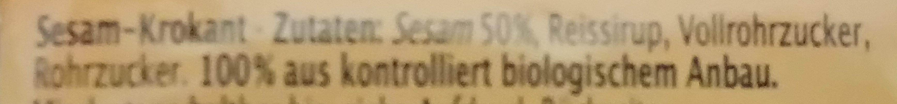 Sesamini - Ingrédients - de