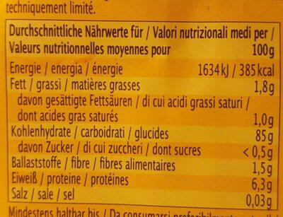 Vollkorn Gepufftes Reis - Nutrition facts