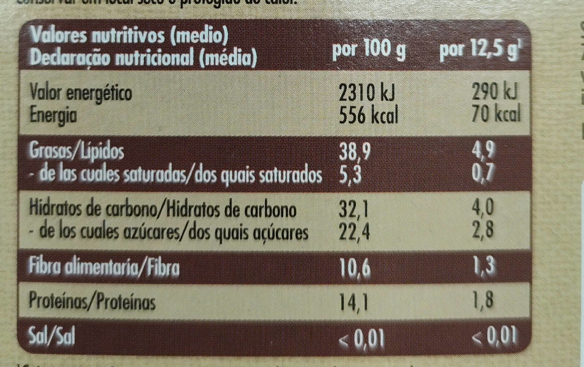 Barritas de sésamo - Nutrition facts - es