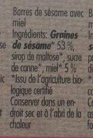 Sesamriegel, Sesamkrokant - Ingrédients - fr