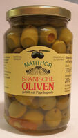 Spanische Oliven gefüllt mit Paprikapaste - Prodotto - de