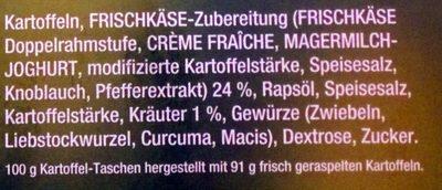 Kartoffel-Taschen - Ingredients