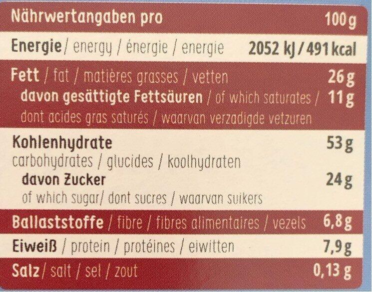 Sommer Schoko Cookies - Informations nutritionnelles - de