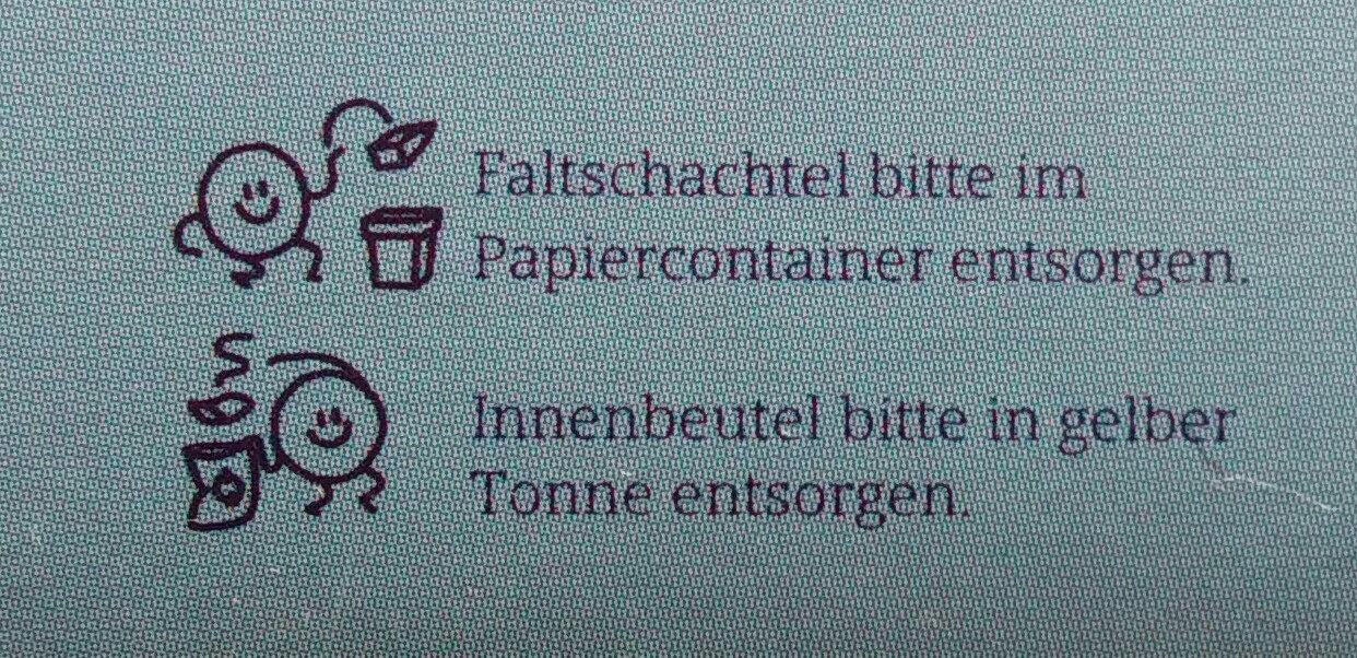 Schoko-Split - Recycling instructions and/or packaging information - de