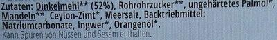 Dinkel Zimtgebäck - Ingrédients - de