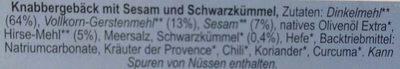 Pane Picco Sesam-Schwarzkümmel - Ingrediënten - de