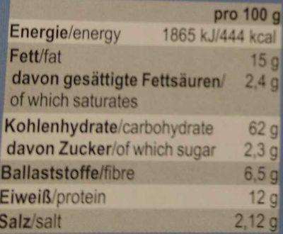 Pane Picco Sesam-Schwarzkümmel - Voedingswaarden - de