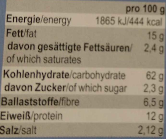 Pane picco - Nährwertangaben - de