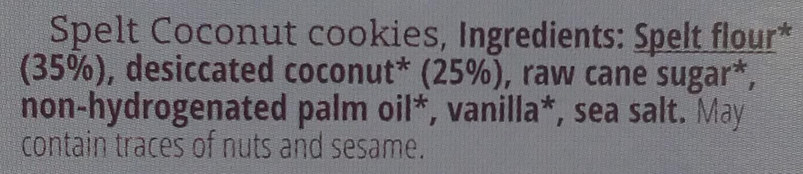 Dinkel Kokos Feine Plätzchen - Ingredients - en