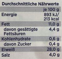 Gourmet-Schinken - Nutrition facts