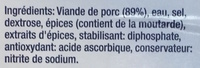 Roulade de jambon Alsacienne - Ingrediënten