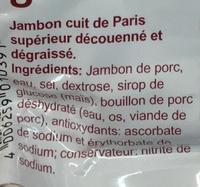 Jambon supérieur de Paris - Ingrediënten - fr