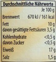 Hähnchenfleisch im eigenen Saft - Nutrition facts - de