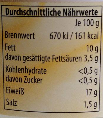 Hähnchenfleisch im eigenen Saft - Nutrition facts